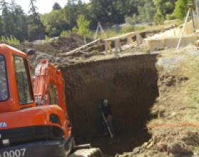 Excavation for septic tanks in Victoria BC