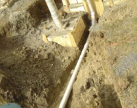 Septic tank connection in Duncan BC