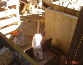 Forming new foundation for house moving in Victoria BC