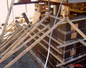 Forming concrete foundation for house lifting in Victoria BC