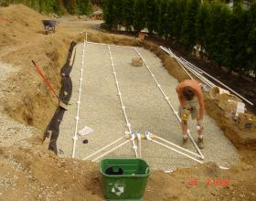 New compact septic field installation in Duncan BC