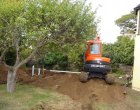 Sewer and storm services installed for subdivision in Victoria BC