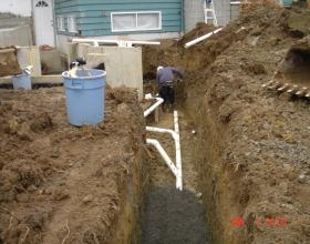 New perimeter drain installation around addition in Victoria BC