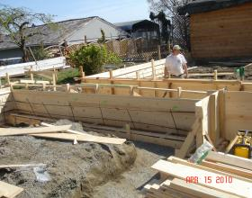 Forming and rebar in concrete foundation Victoria BC