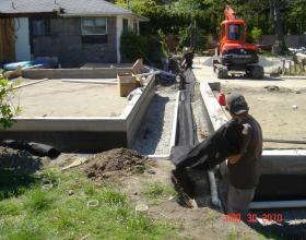 New construction perimeter drainage in Victoria BC