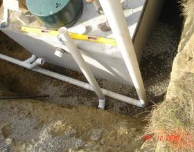 Concrete septic tank installation in Victoria BC
