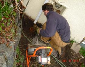 Clearing perimeter drains on a failing system in Victoria BC