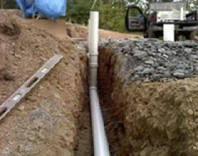 Gravity septic field in Victoria BC