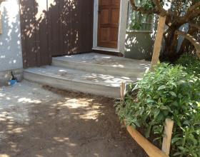 Concrete stairs and landing forming sidewalk in Victoria BC