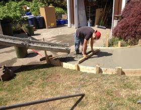 Concrete pouring and finishing in Victoria BC