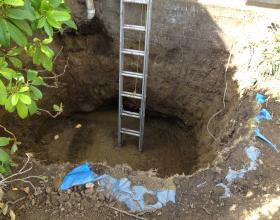 Final testing for oil contaminated soil from a buried oil tank in Victoria BC