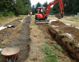 Type 1 septic field installation in Duncan BC