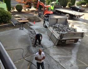 Concrete slab jackhammer removal in Victoria BC