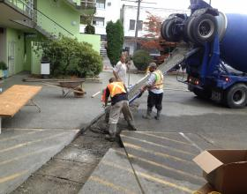 Concrete commercial driveway repair in Victoria BC