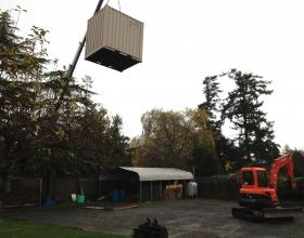 Delivering shipping container rental in Victoria BC