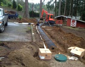 Installation of new septic system in Duncan BC