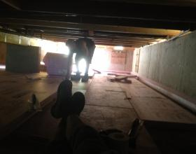 Insulation in crawlspace for house lift in Victoria BC