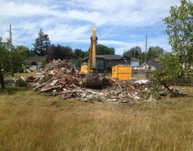 House demolished and loaded in Victoria BC