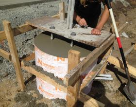 Structural concrete foundation for commercial sign in Victoria BC