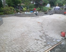 Landscape design and driveway installation in Victoria BC