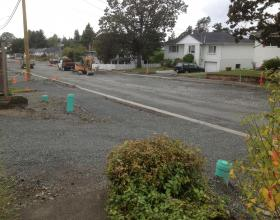 Sewer, water and storm service installation for subdivision in Victoria BC