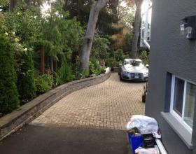 New driveway, retaining wall and landscape plantings Victoria