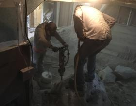 drilling and breaking rock in basement Victoria BC