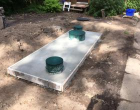 Concrete septic tank lid pouring in Victoria BC