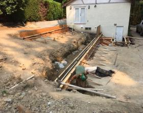 Retaining walls and staircase forms in Victoria BC