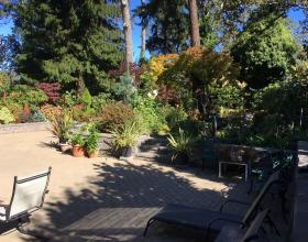 Completed landscape with driveway and retaining walls Victoria BC
