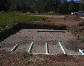 New septic field installation in Victoria BC