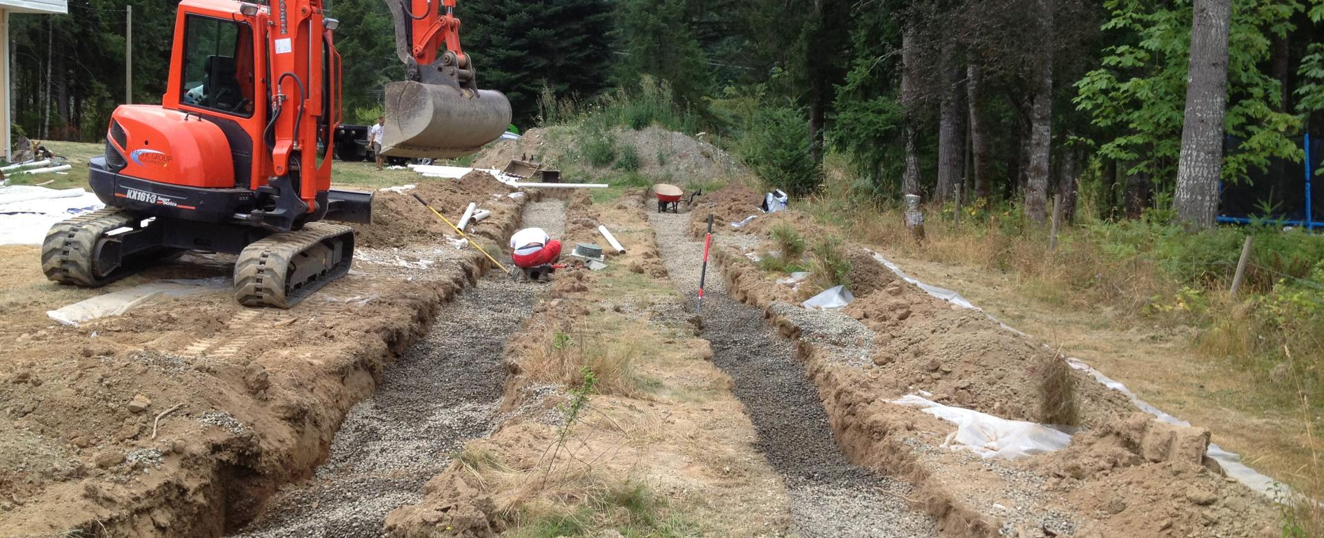Septic Field Victoria, Duncan BC Pacific Group Developments