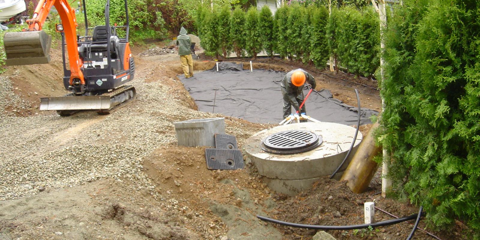 New septic field installation Duncan and Victoria