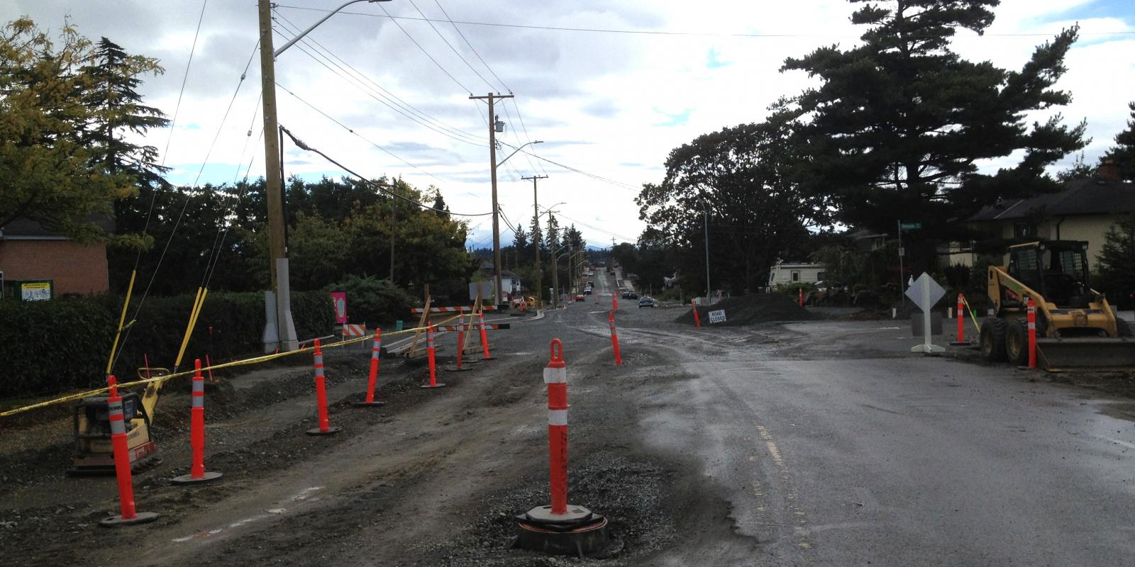Road and sidewalk construction Victoria BC